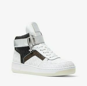 Michael Kors Color Block Logo High Top Sneakers